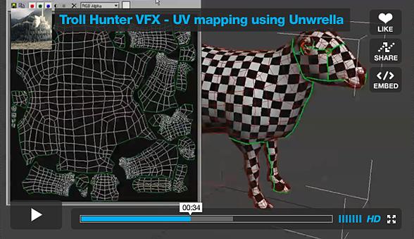 Troll Hunter VFX using Unwrella