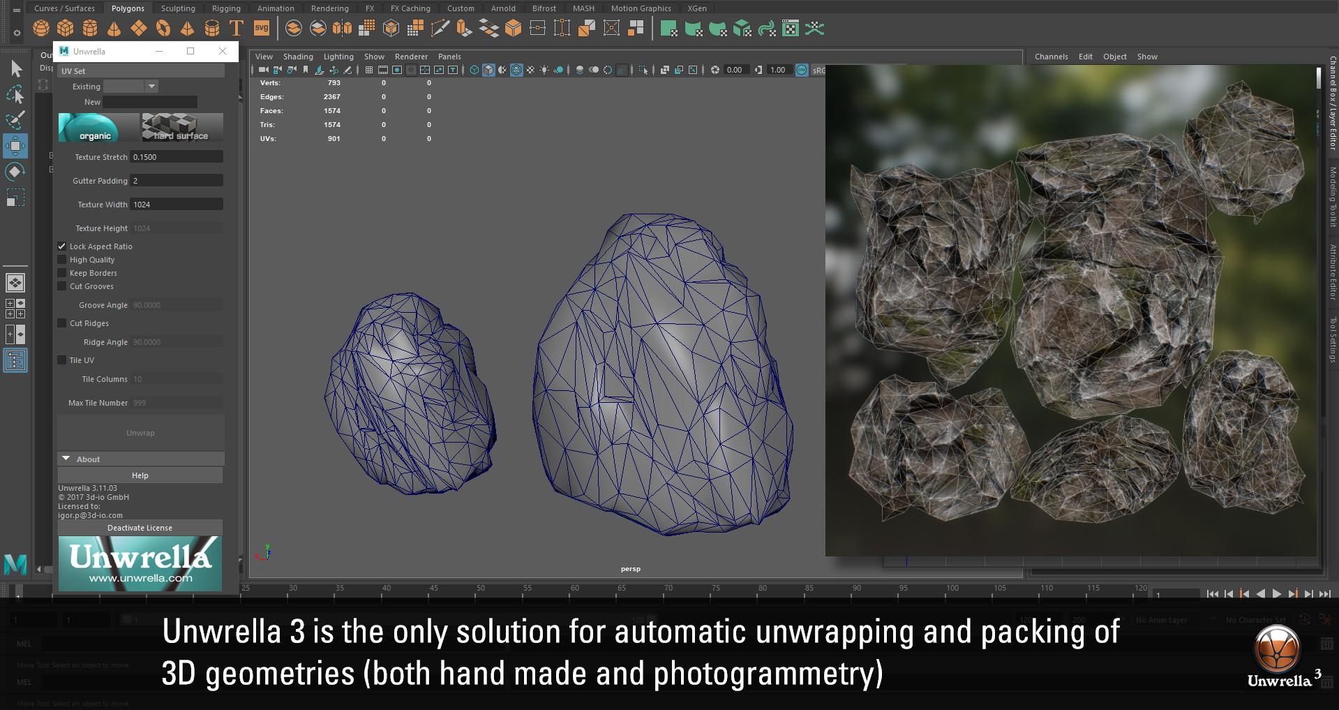 Unwrella for Maya 2018!   3d-Plugin