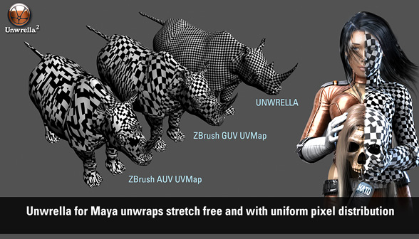 Unwrella - Zbrush comparison