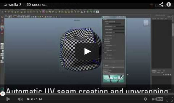This is a 60 second presentation of the Unwrella plug-in for Autodesk 3ds Max and Maya