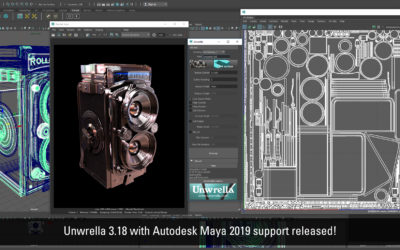 Unwrella 3.18 for Autodesk Maya 2019 released