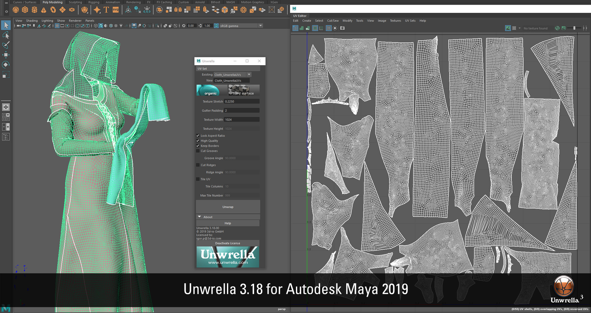 Unwrella 3 18 for Autodesk Maya 2019 released | Unwrella