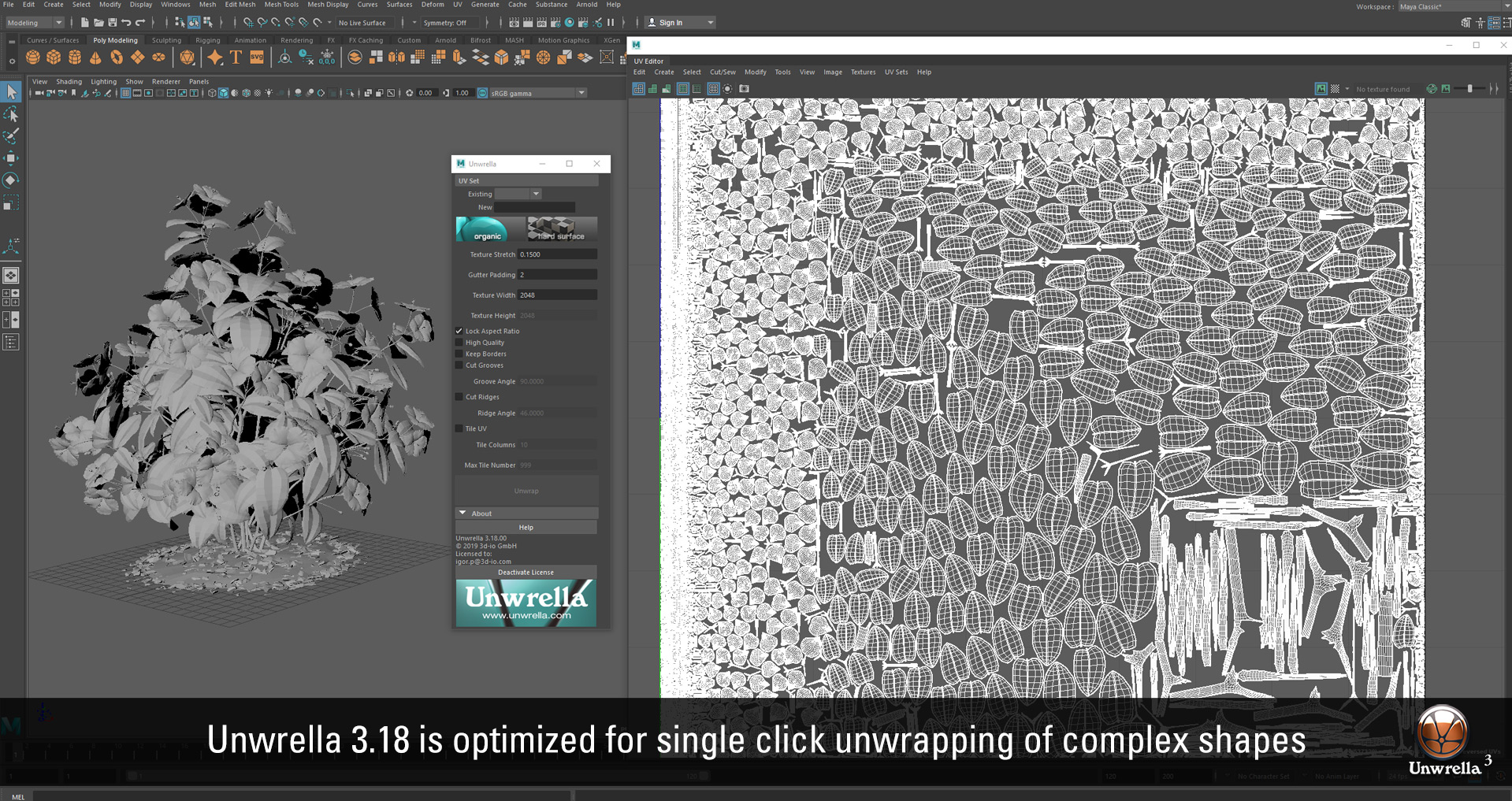 Unwrella 3 18 for Autodesk Maya 2019 released | Unwrella - Optimal