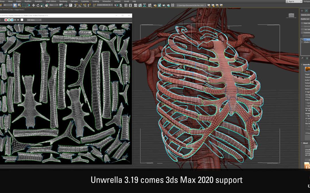 Unwrella 3.19 for 3ds Max 2020