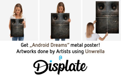 Get metal posters of 3d Art created with Unwrella!