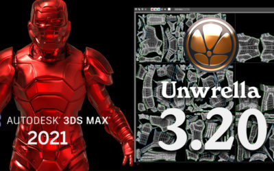 3ds Max 2021 support: Unwrella 3.20
