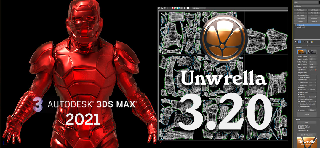 Unwrella 3.20 - 3ds Max 2021 support