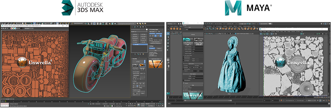 Unwrella optimal automatic unwrapping for Autodesk 3ds Max and Maya