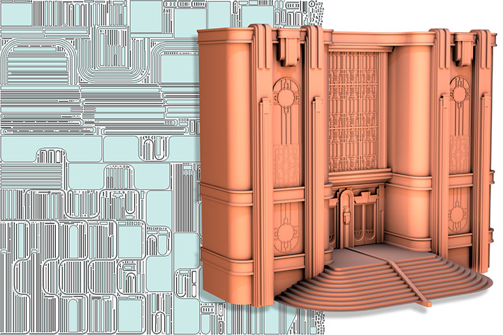 Unwrella hard-surface automatic unwrapping for Autodesk 3ds Max and Maya